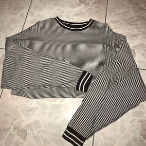Oversized Striped Urban Outfitters Long Sleeve Tee